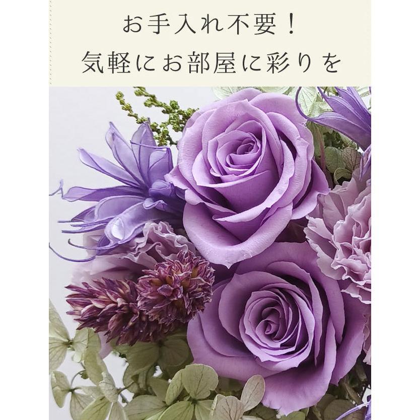 花 ギフト プリザーブドフラワー ドライフラワー プレゼント【S グラスポッド】アレンジメント 花 誕生日 退職祝い お祝い 結婚祝い 女性 母親 義母 プレゼント|sweet-mommy|04