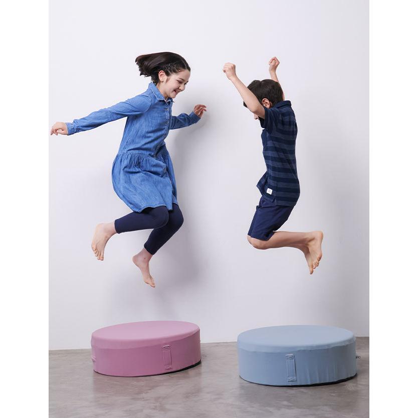 トランポリン クッション 日本製 家庭用 子供 静音 クッション型 20cm 厚 室内 リビング ダイエット スツール カバー 効果 家庭 マット|sweet-mommy|14
