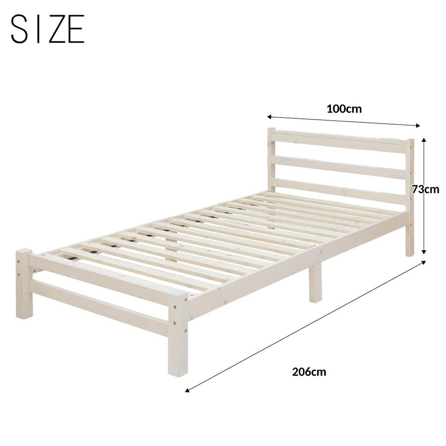 ベッドフレーム シングル 送料無料 ノース スノコ ベッド すのこ 組み立て式 マットレス別売り|sweetdecoration|05