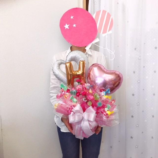 キャンディブーケ お祝い メッセージ無料 楽屋花に|sweetflower|02