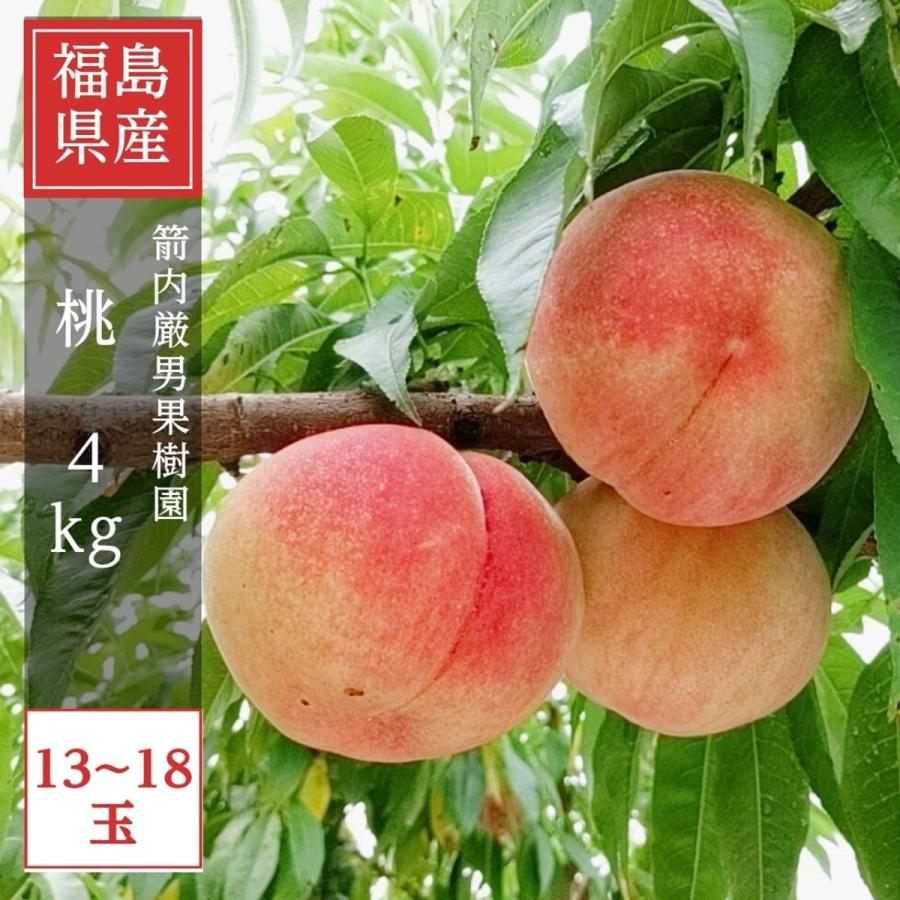 【箭内巌雄果樹園】桃 4kg 品種おまかせ 贈答・ギフトにも sweetjuicyparadise