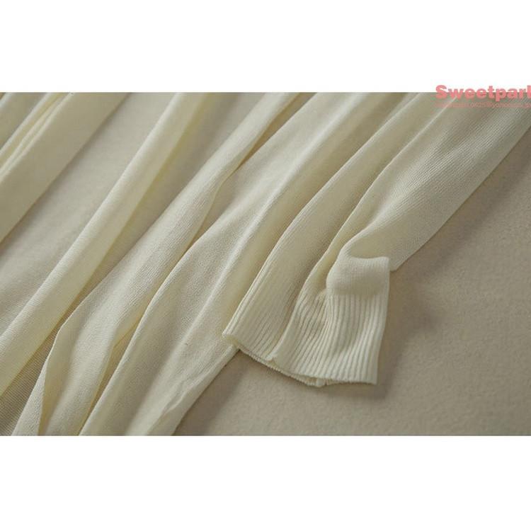 カーディガン レディース 長袖 UVカーデ 涼しい ロングカーディガン 秋 夏 ゆったり 薄手 紫外線対策 エアコン対策 羽織り 日焼け防止|sweetparl|05