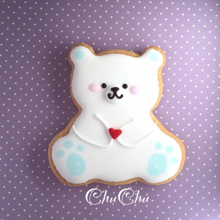 【アイシングクッキー】シロクマさん 10セット sweets-chuchu