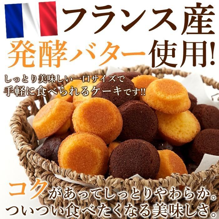 フランス産発酵バター使用 プチケーキ 2種 プレーン味 チョコ味 50個 お菓子 個包装 一口サイズ|sweets2|02