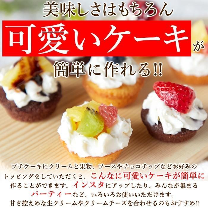 フランス産発酵バター使用 プチケーキ 2種 プレーン味 チョコ味 50個 お菓子 個包装 一口サイズ|sweets2|03