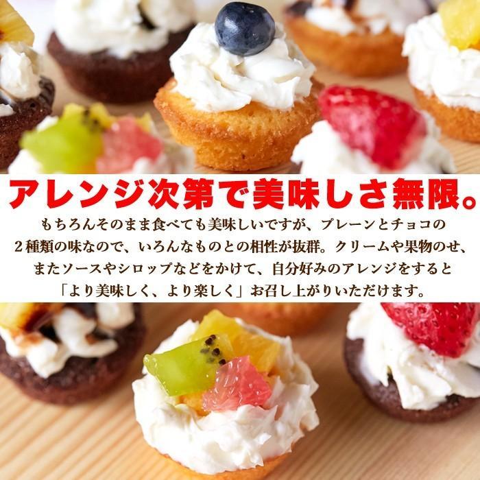 フランス産発酵バター使用 プチケーキ 2種 プレーン味 チョコ味 50個 お菓子 個包装 一口サイズ|sweets2|06