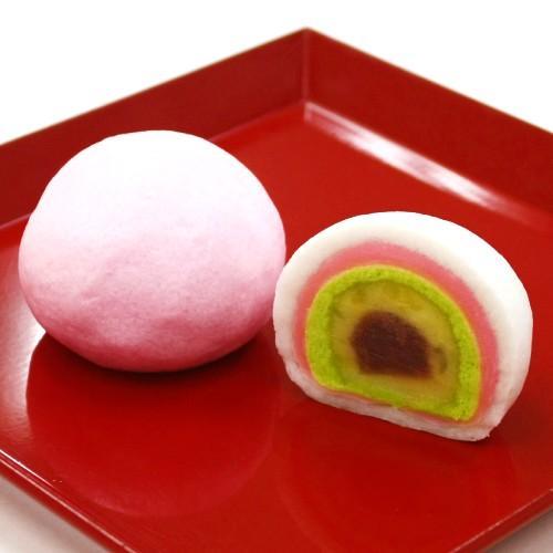 お取り寄せ(楽天) 千代重 大2個入 (七層) 紅白饅頭 価格2,160円 (税込)