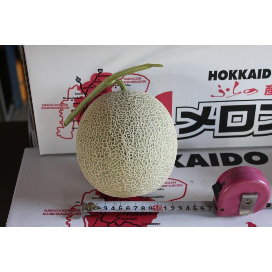 メロン 富良野メロン 北海道産 赤肉 秀品 2Lサイズ 2玉 約1.5kg以上 送料無料 sweetvegetable 18