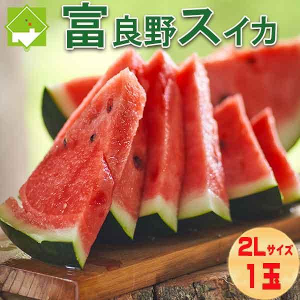 すいか 最安値 スイカ 西瓜 人気上昇中 北海道 富良野産 1玉 2Lサイズ 送料無料 6kg以上