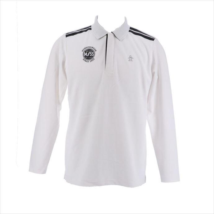 ジップアップ長袖シャツ Munsingwear (マンシングウェア) メンズ 長袖シャツ ホワイト MGMMJB05 1908 ゴルフ