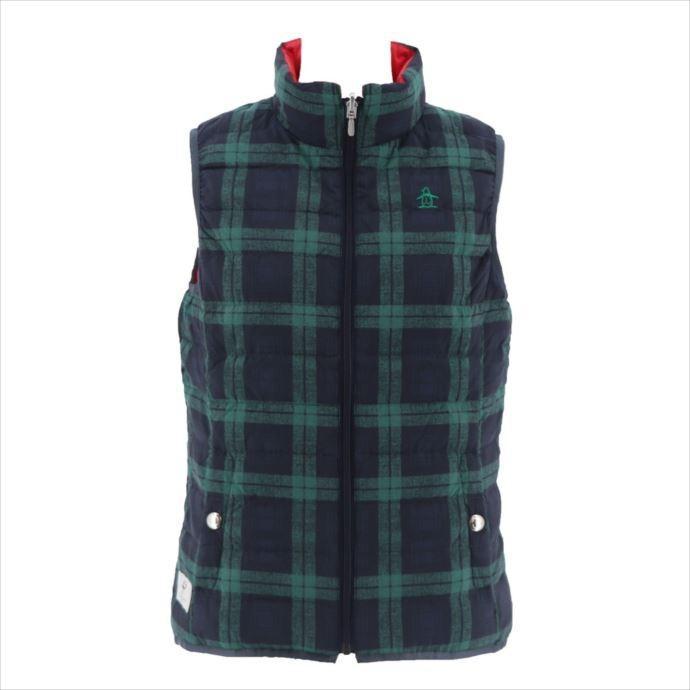 【国際ブランド】 《送料無料》Munsingwear (マンシングウェア) レディス リバーシブル タータンチェック BKグリーン MGWMGK50 1908 ゴルフ ベスト, MAGAZZINO a979c63d