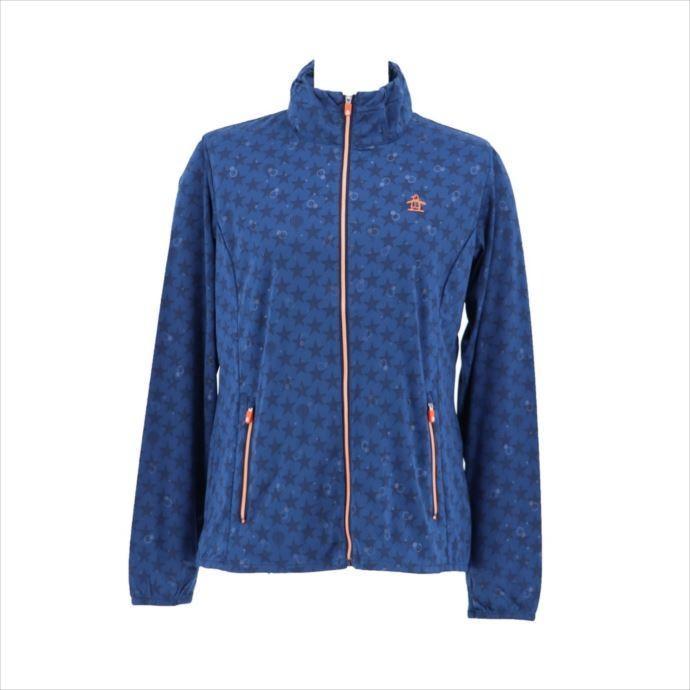 《送料無料》Munsingwear (マンシングウェア) レディス ハイゲージプリントブルゾン NVY MGWMJK01 1908 ゴルフ ブルゾン
