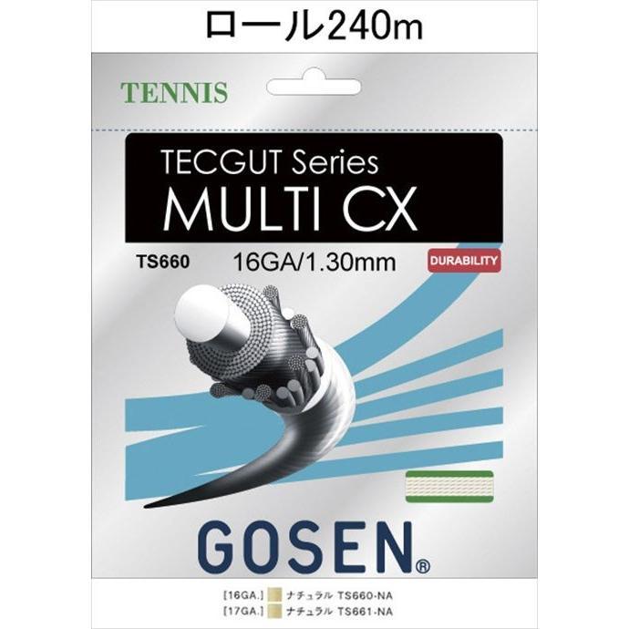 《送料無料》GOSEN(ゴーセン) テックガット マルチ CX 16 TECGUT MULTI CX 16 240mロール TS6602NA 1805 【メンズ】【レディース】