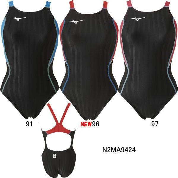 ミズノ(MIZUNO)女性用 競泳水着 ストリームアクセラ ウイメンズミディアムカット N2MA9224