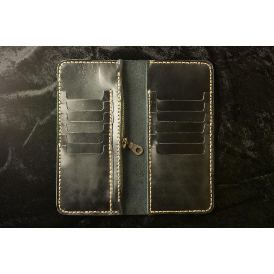 メンズ 本革製 ハンドメイドウォレット 手縫い ビジネス カジュアル兼用使用可能デザイン 送料無料|swingdog|05