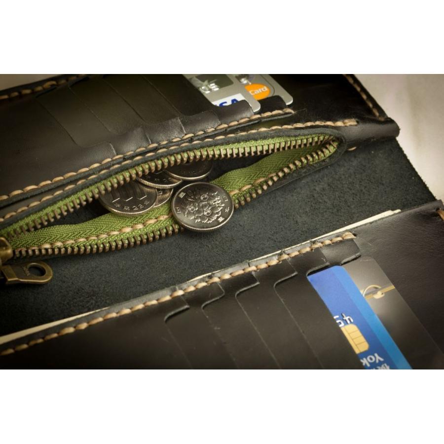 メンズ 本革製 ハンドメイドウォレット 手縫い ビジネス カジュアル兼用使用可能デザイン 送料無料|swingdog|07