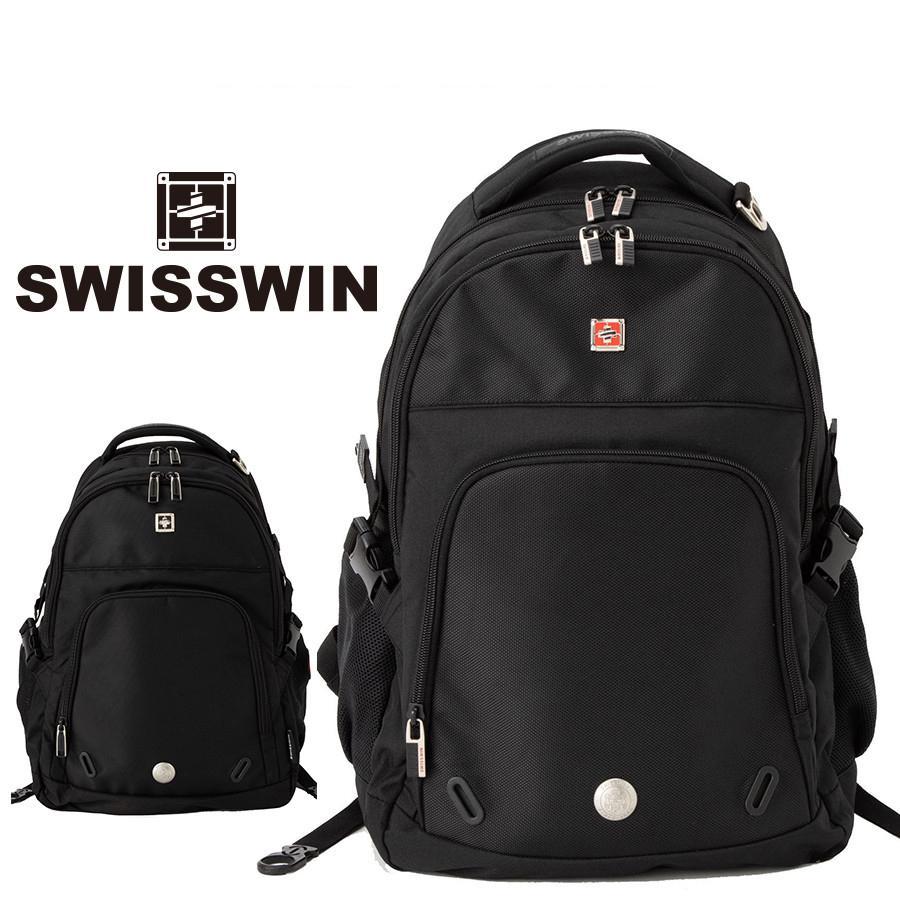 swisswin リュック リュックサック ビジネスリュック メンズ レディース 大容量 頑丈 通学 通勤 旅行 出張 アウトドア ビジネス リュック バッグ SW9017|swisswin
