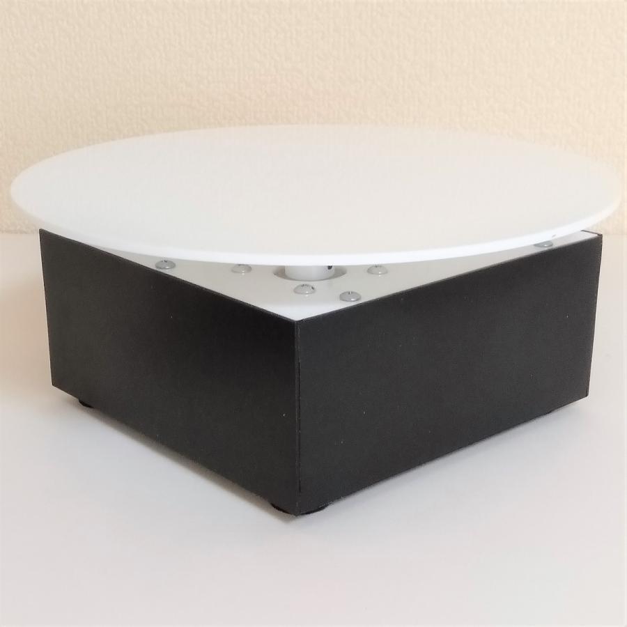 ターンテーブル スピード調整約60〜5秒 左右切替 自動首振り角度調整 AC電源 直径210mm 耐荷重6.0kg 撮影用 ディスプレイ用 switch-kobo 04