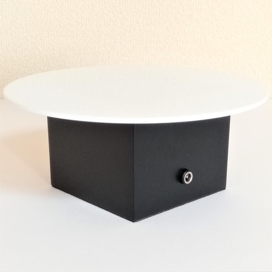 ターンテーブル スピード調整約60〜5秒 自動首振り約180度 AC電源 直径180mm 耐荷重2.0kg ディスプレイ用 撮影用 switch-kobo 04