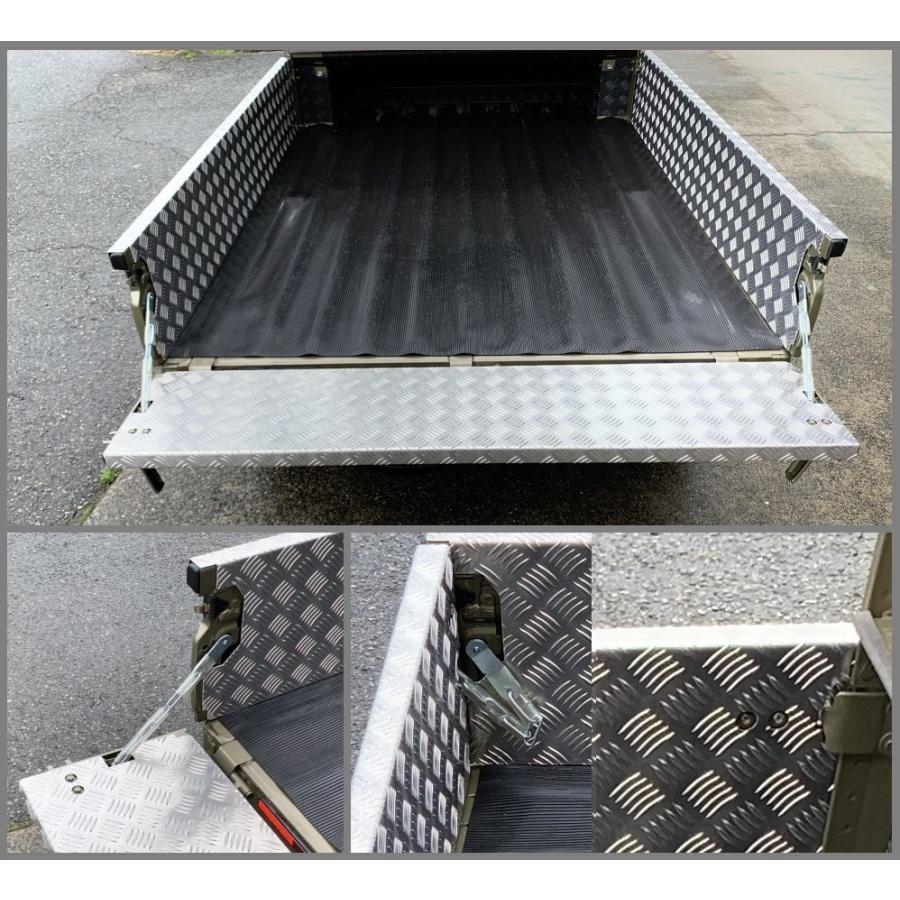 ■軽トラ ハイゼットジャンボ S510P 荷台ゲートインナーカバー アルミ縞板 3枚SET symy21 02