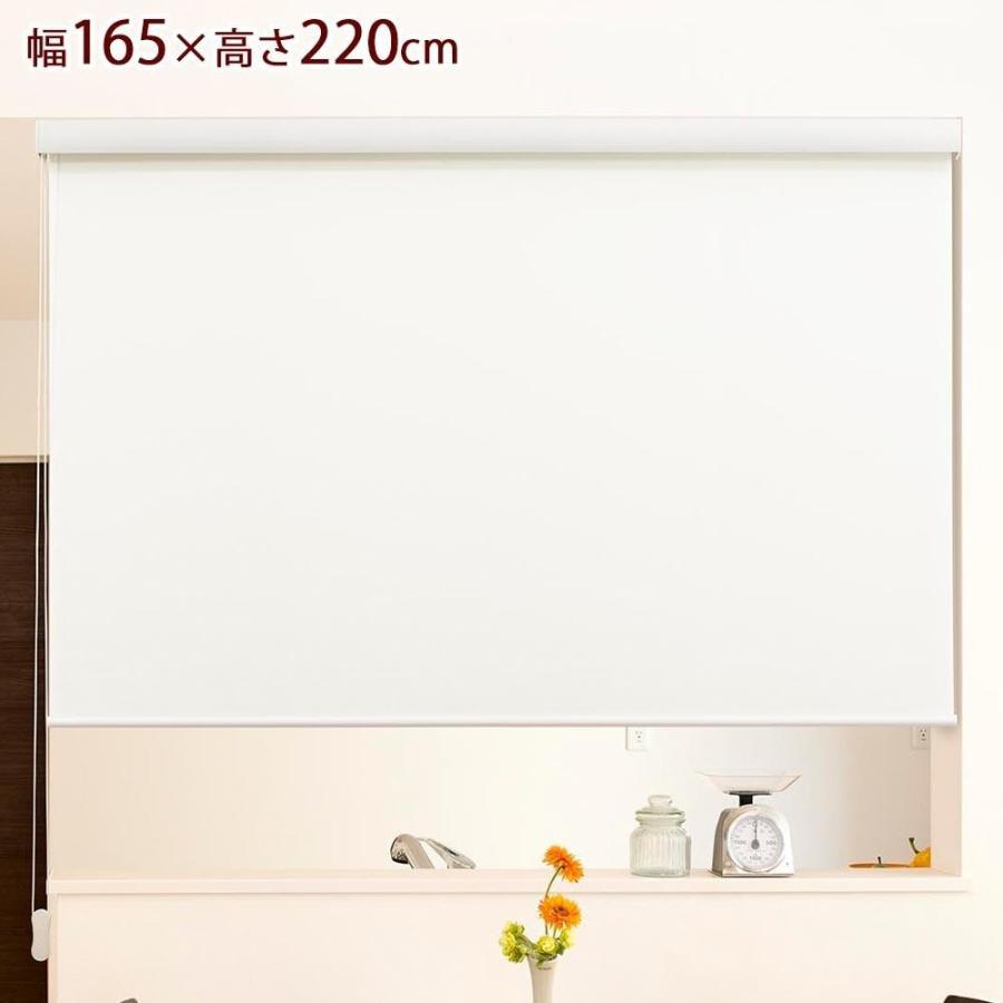 柔らかな質感の ロールスクリーン エクシヴ 幅165×高さ220cm 防炎無地オフホワイト L3562, Bコレクション:6e32b865 --- grafis.com.tr