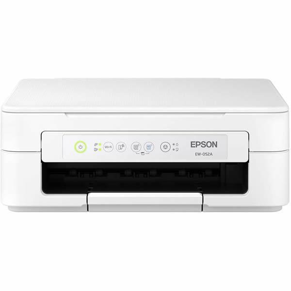 エプソン 新入荷 新色追加して再販 流行 Colorio プリンター複合機 EW-052A 4色独立インクジェット W-LAN A4 H-USB プリンター コピー スキャナー