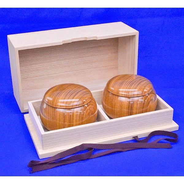 囲碁 木製碁笥 欅 桐製碁笥箱付き 激安超特価 特大 正規品 ※蛤碁石36号まで収納可能