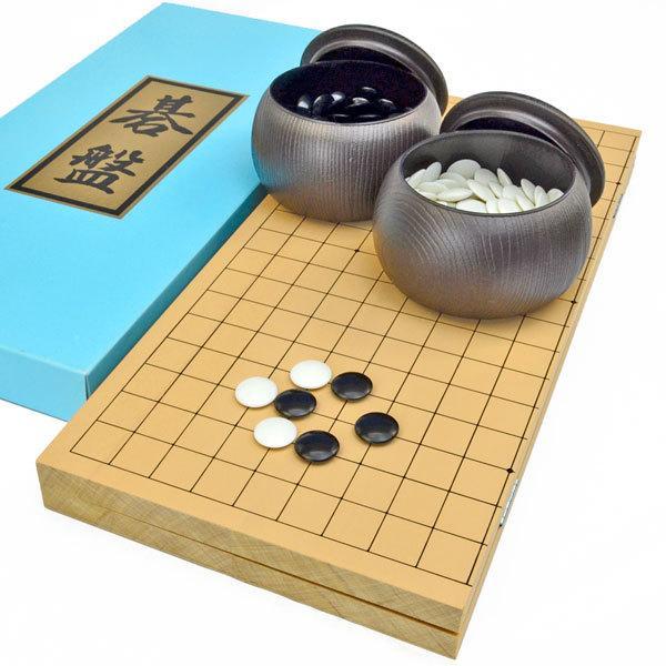 期間限定特価品 囲碁セット 大好評です 新桂6号折碁盤セット プラ碁石梅 ブロー碁笥