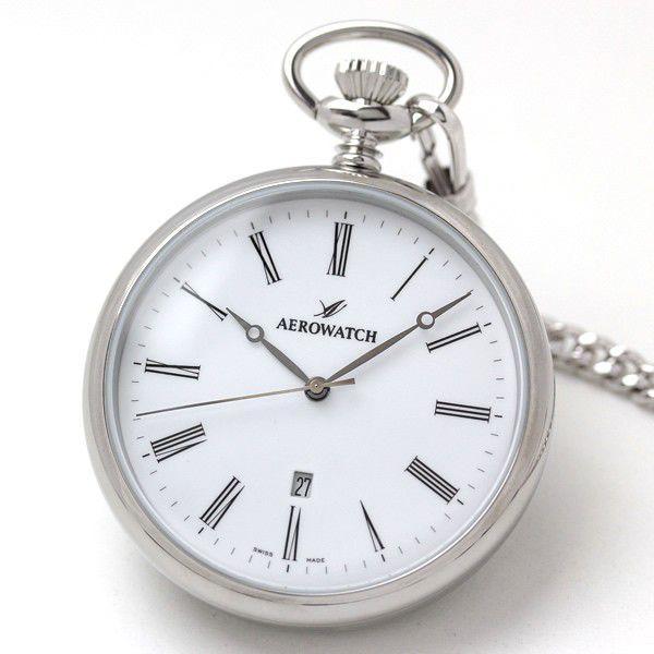 アエロ 懐中時計 クォーツ式 42616AA03 正規輸入品  文字刻印可能