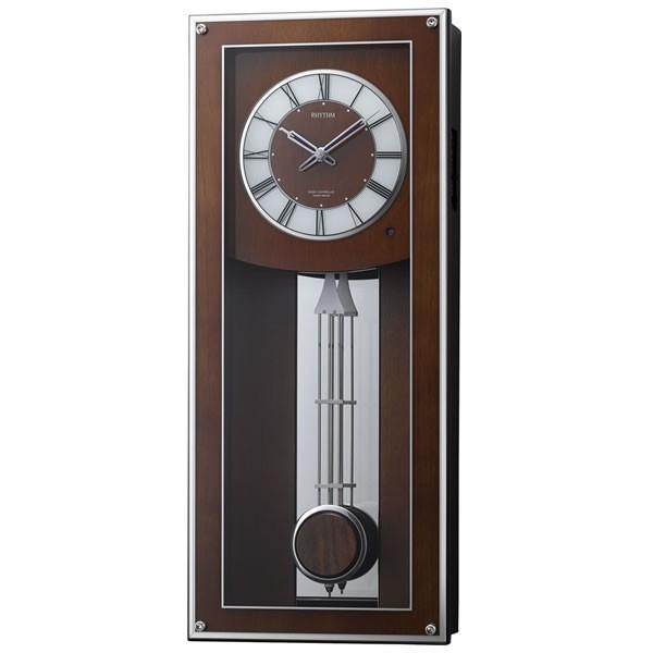 RHYTHMリズム電波振り子掛け時計プライムフィールド4MN522RH06