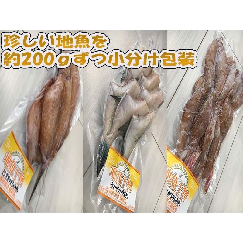 地魚干物詰合せ 200g×10パック 日本海新潟寝屋漁港産限定使用 地味で小さい訳アリだけどワクワク美味しい干物セット ギフト 産地直送 条件付送料無料|syowamaru|04