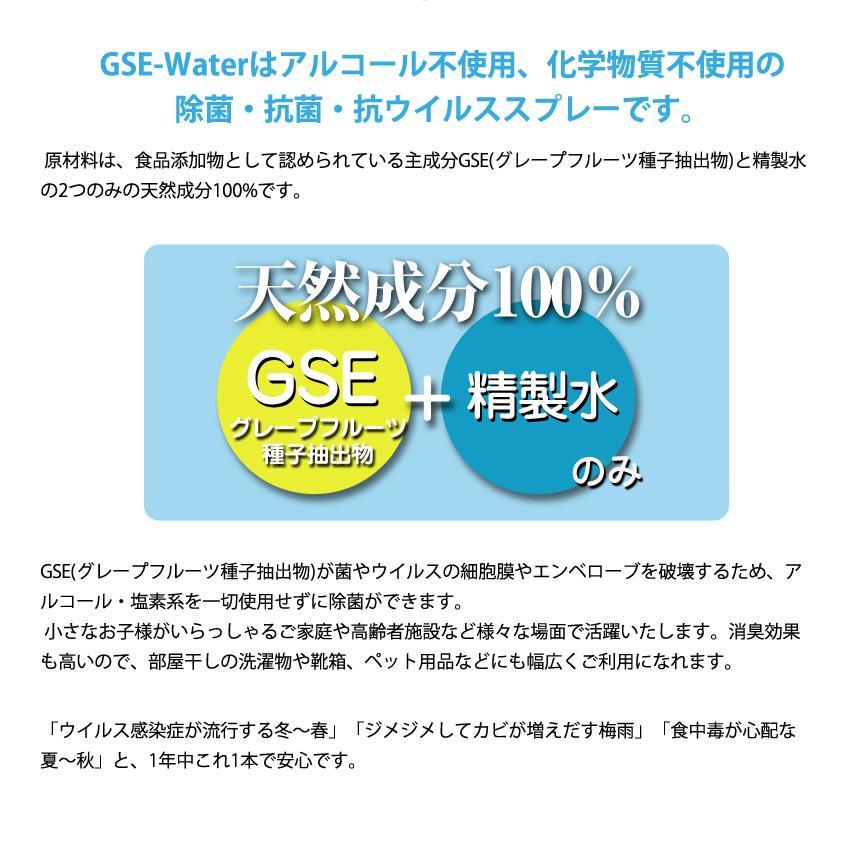 除菌・抗菌・抗ウイルス・抗カビ・消臭 スプレー [GSE-Water] 100ml (GSE-210) アルコール・化学物質不使用 systemsacom 03