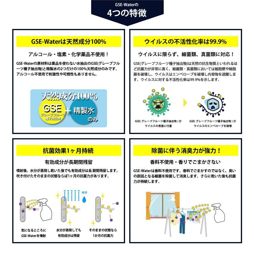 【特別割引!】除菌・抗菌・抗ウイルス・抗カビ・消臭 スプレー [GSE-Water] 500ml (GSE-250) アルコール・化学物質不使用|systemsacom|05