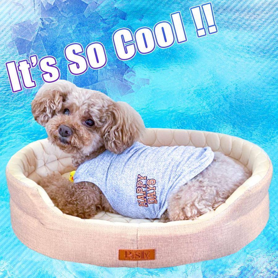 【訳あり】 ひんやり ペット ベッド マット 夏用 犬 猫 冷感 パイル ストライプクール Mサイズ|systemstyle|02