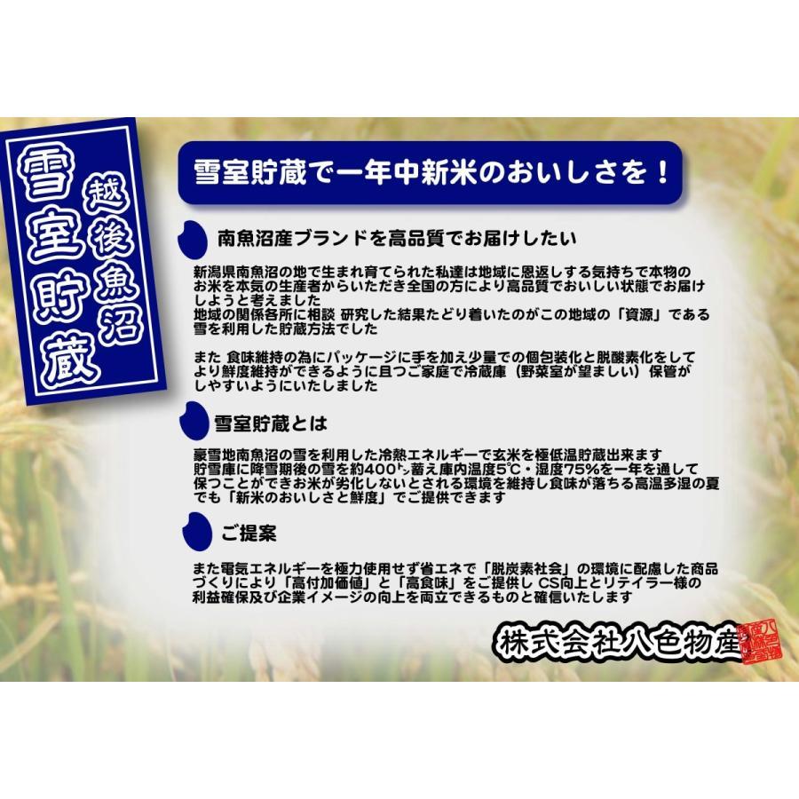 新米 雪室貯蔵米 令和3年産 南魚沼産コシヒカリ 塩沢産100%特別栽培米と慣行栽培米の5kg計10kgです。送料無料(本州) |syugyokunoippin|06