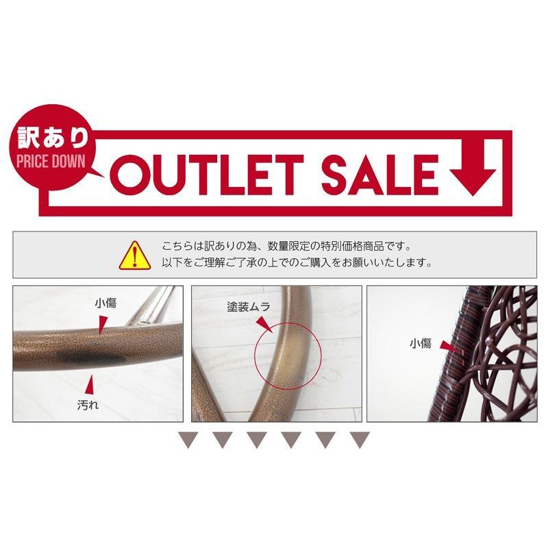 【訳ありアウトレット】ハンギングチェア エッグ型 クッション付き インテリア たまご型 ベランピング syumicolle 17
