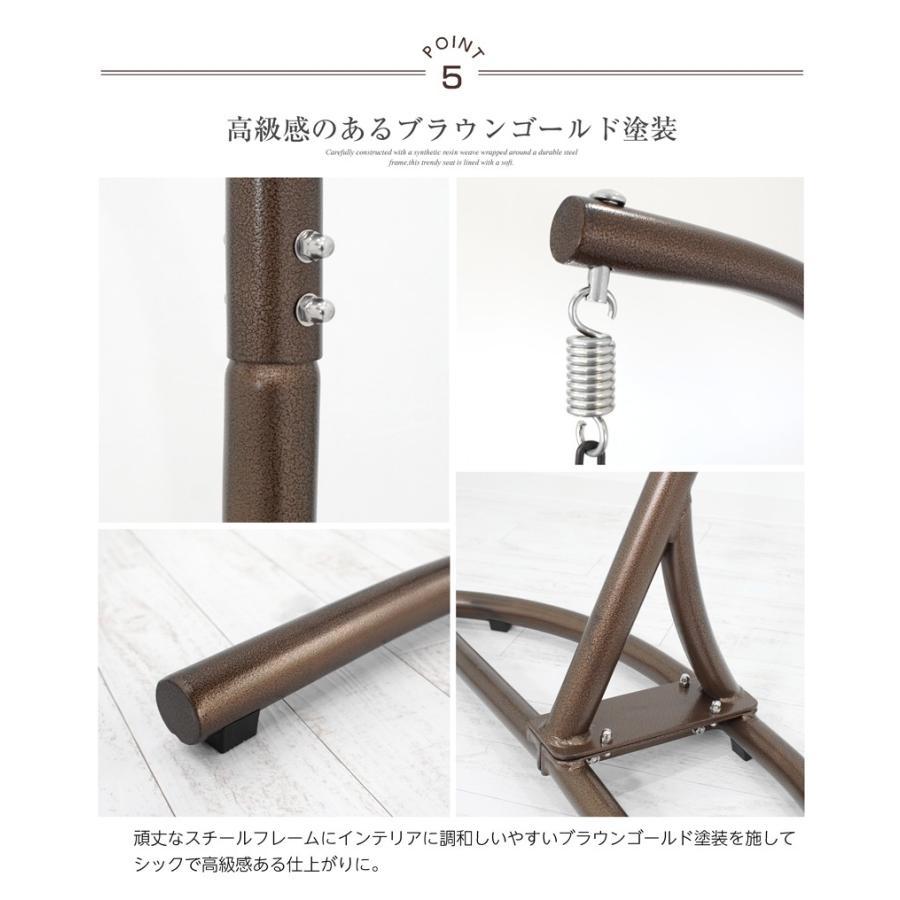 【訳ありアウトレット】ハンギングチェア エッグ型 クッション付き インテリア たまご型 ベランピング syumicolle 09