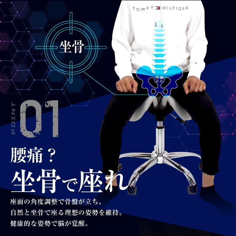 STRASSE GAMING LAB 腰痛対策チェア 椅子 ゲーミングチェア オフィスチェア パソコンチェア [ハンコン ストラッセ]|syumicolle|05