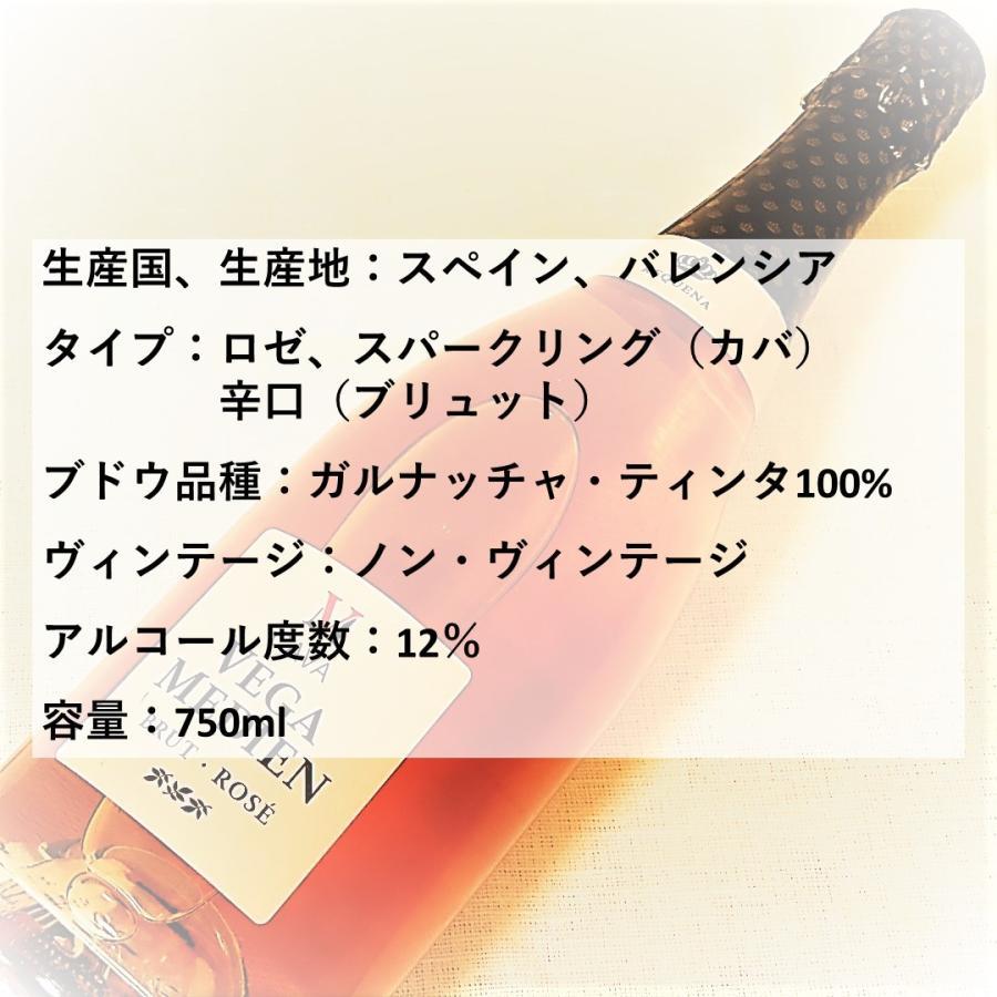 \20%OFFクーポン有/ スパークリングワイン cava カバ (辛口) 『ベガ・メディエン ブリュット・ロゼ NV』 父の日 2021 プレゼント ギフト おすすめ syungen-sakaya 02