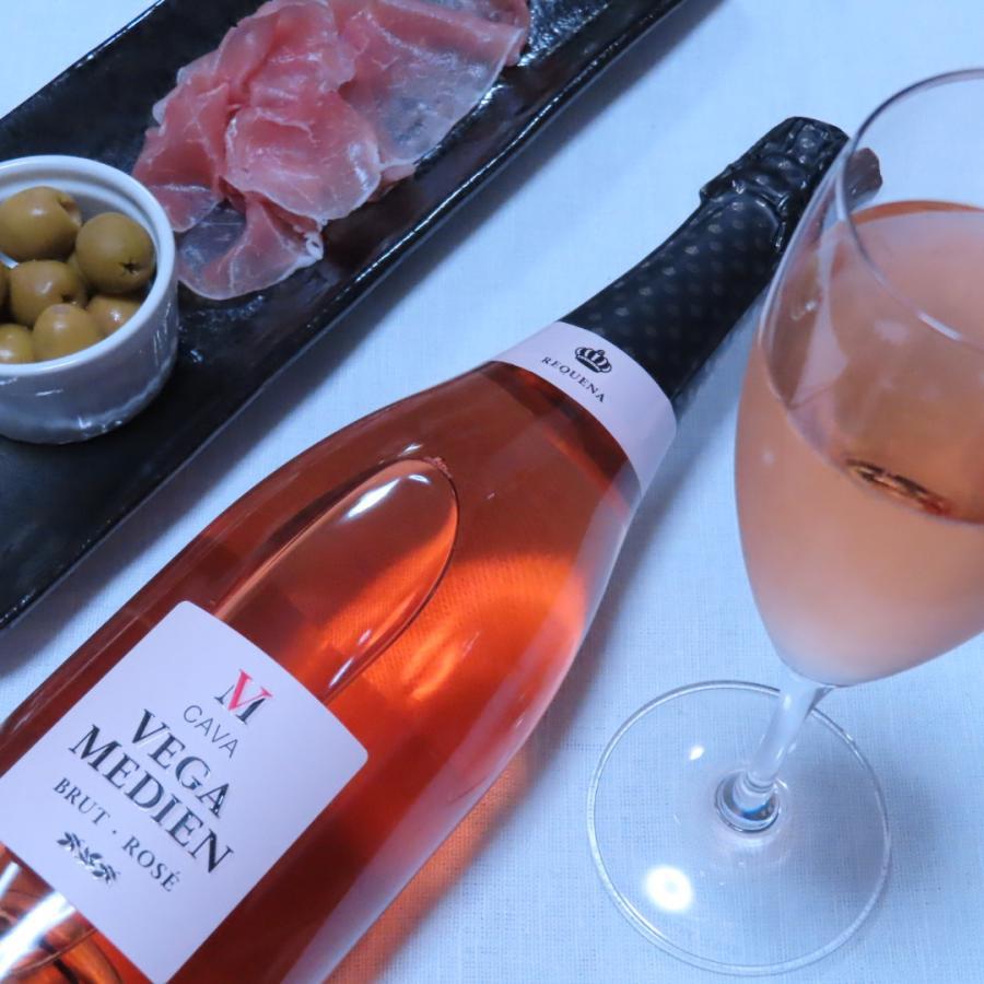 \20%OFFクーポン有/ スパークリングワイン cava カバ (辛口) 『ベガ・メディエン ブリュット・ロゼ NV』 父の日 2021 プレゼント ギフト おすすめ syungen-sakaya 06