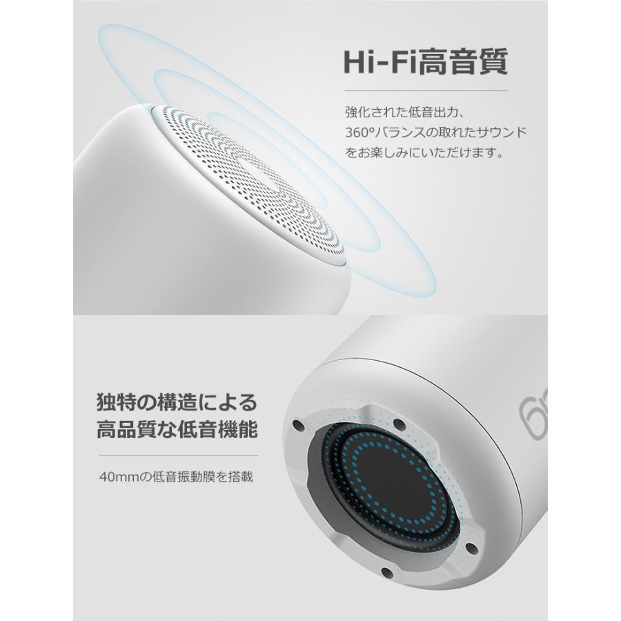 Bluetooth 5.0 スピーカー 18時間再生 ワイヤレススピーカー 車 小型 ポータブルスピーカー IPX5防水 高音質 大音量 マイク内蔵 iPhone Android iPad PC対応 syunyou 04