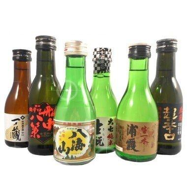 お歳暮 ギフト 日本酒 飲み比べセット 司牡丹、八海山、浦霞、一ノ蔵、大七、春鹿 ミニボトル 送料無料|syurakushop