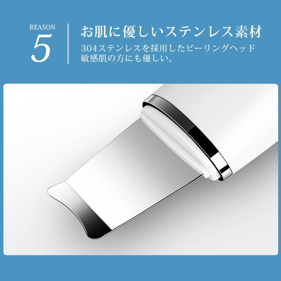 ウォーターピーリング EMS クレンジング 美顔器 毛穴ケア 超音波 イオン導入 角質 除去 プレゼント ギフト(B1B006CPB)|syuseisya|10