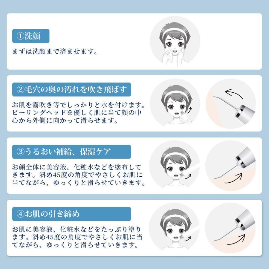 ウォーターピーリング EMS クレンジング 美顔器 毛穴ケア 超音波 イオン導入 角質 除去 プレゼント ギフト(B1B006CPB)|syuseisya|05