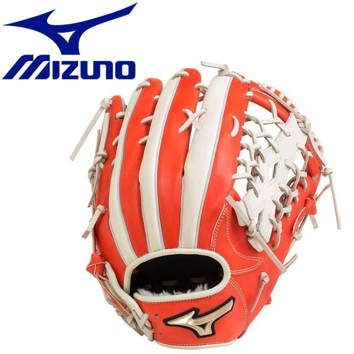 ミズノ 野球 ソフトボール用 グローバルエリート H SeLection01 外野手用:サイズ16N グラブ 1AJGS204075203