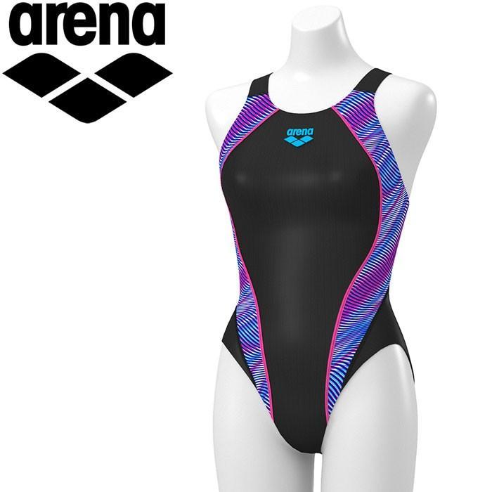 アリーナ 水泳 セイフリーバック 着やストラップ 水着 レディース ARN-9076W-BKPK 返品不可
