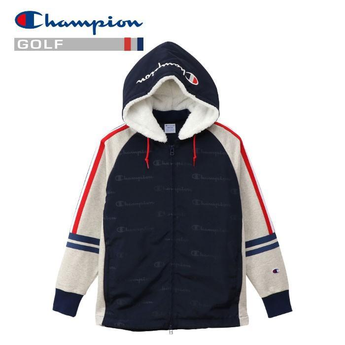 チャンピオン ゴルフウェア レディース ジップフードジャケット CW-QG103-34T 2019秋冬