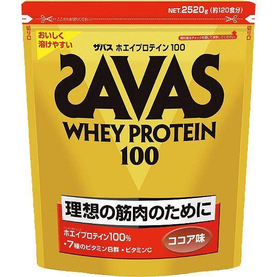 ザバス SAVAS ホエイプロテイン100 ココア味 2,520g 約120食分 CZ7429 理想とする筋肉のために