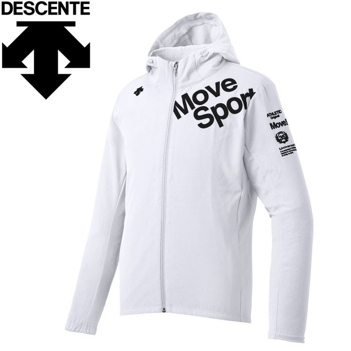 デサント サンスクリーンクロス フーデッドジャケット メンズ DMMNJF16-WH