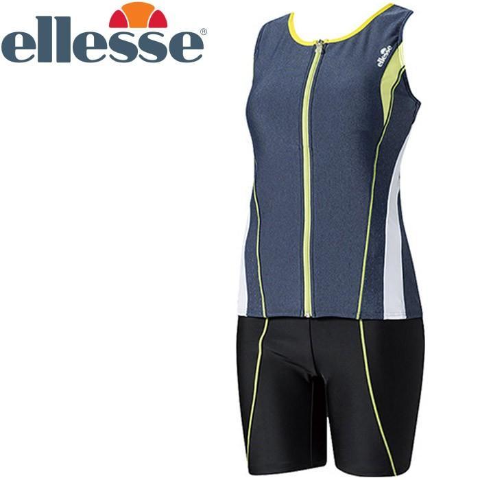 エレッセ 水泳 スリマー美セパレーツ フィットネス 水着 レディース ES57105-SL 返品不可